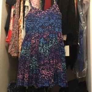 Flare Printed Dress multi Colored